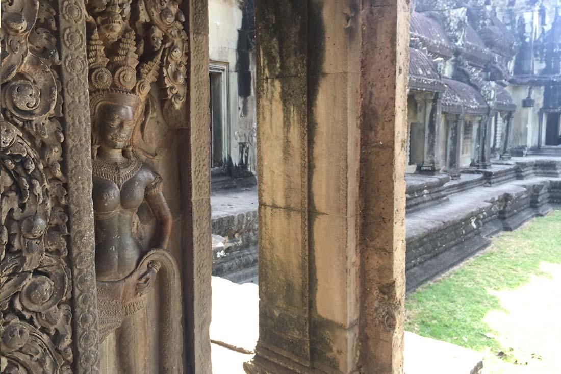 Apsara Dancer Carving, Angkor Wat, Cambodia