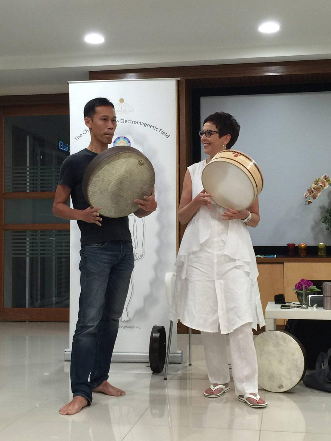 Dehyana drumming